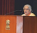 The Union Minister for Culture, Smt. Chandresh Kumari Katoch addressing at the launch of the National Mission on Libraries, in New Delhi on February 03, 2014.jpg