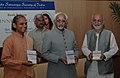"The Vice President, Shri Mohd. Hamid Ansari releasing the book titled ""Inner Peace"" by Sri Sri Paramahansa Yogananda, at a function, organized by Yogada Satsanga Society, in New Delhi on September 12, 2008.jpg"