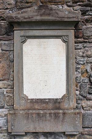 Robert Haldane (mathematician) - The grave of Robert Haldane, St Andrews Cathedral churchyard