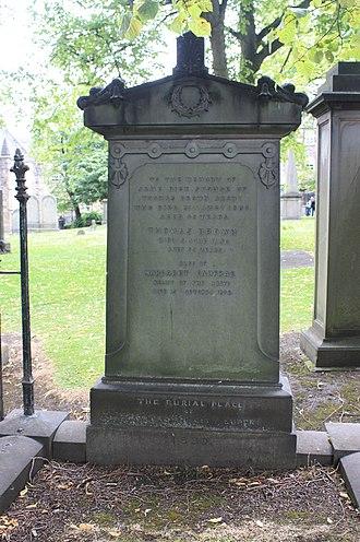 Thomas Brown (architect) - The grave of the architect Thomas Brown, Greyfriars Kirkyard, Edinburgh
