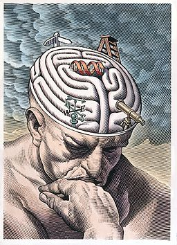 The gyri of the thinker's brain as a maze of choices in biom Wellcome L0027293