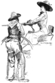 The man at the buggy-wheel grinned up impudently, by Gerrit A. Beneker.png