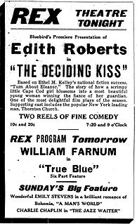 <i>The Deciding Kiss</i> 1918 film by Tod Browning
