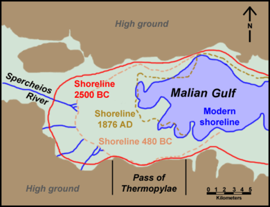 Thermopylae shoreline changes map.png
