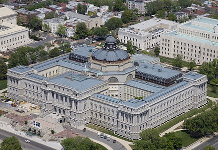 Library of Congress Jefferson Building Thomas Jefferson Building Aerial by Carol M. Highsmith.jpg