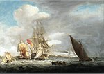 Thomas Luny - A British Men-of-War surrounded by coastal craft.jpg