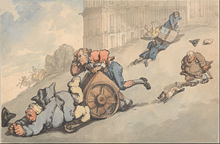 Comforts of Bath- Gouty Persons Fall on Steep HIll