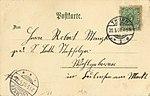 Thorn, Westpreußen - Stadtwappen; Rathaus (back) (Zeno Ansichtskarten).jpg