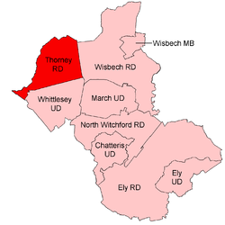 Position within Isle of Ely Thorney RD 1935.png