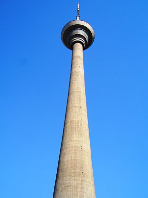Tianjin Radio and Television Tower - A view of the Tianjin TV Tower from its base