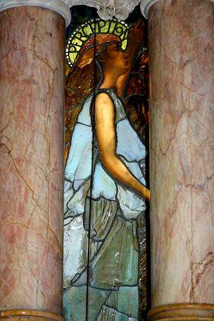 Education (Chittenden Memorial Window) - Image: Tiffany Education (left pillars)