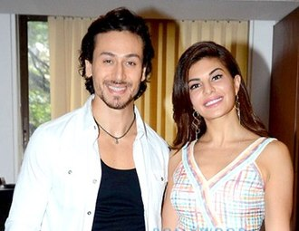 Tiger Shroff - Shroff and his A Flying Jatt co-star Jacqueline Fernandez in 2016