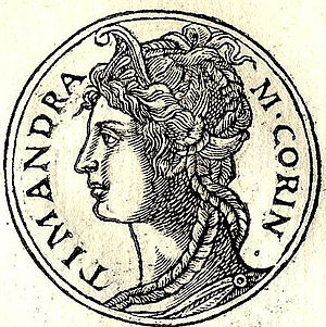 The Plot to Save Socrates - Timandra, mistress of Alcibiades - according to the book, she was actually a time traveler from the 21st century