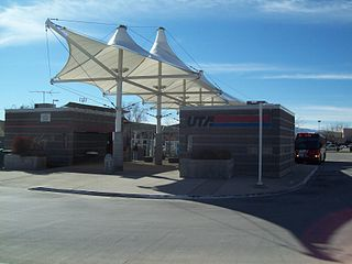 Mount Timpanogos Transit Center bus station in Orem, Utah, United States