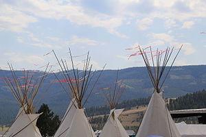 Arlee, Montana - Tipis at Arlee Esyapqeyni 2015, the Arlee Celebration Pow Wow
