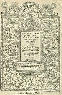 Euclids <i>Elements</i> mathematical treatise by Euclid
