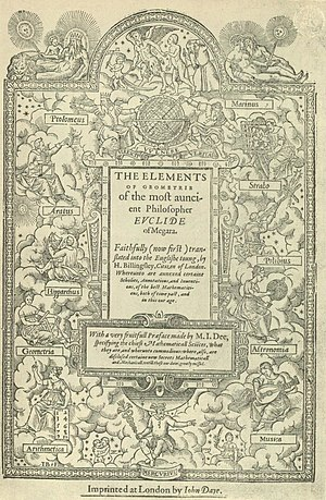 Title page of Sir Henry Billingsley's first English version of Euclid's Elements, 1570 (560x900).jpg