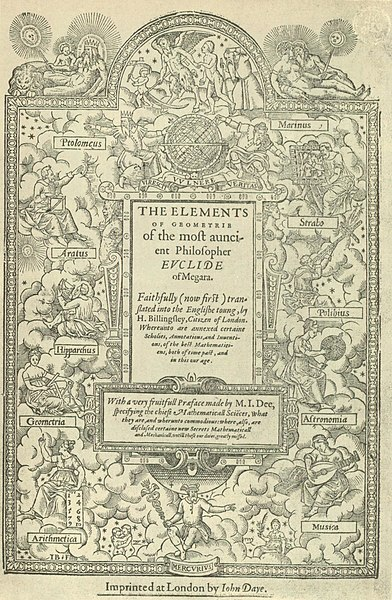 Tập tin:Title page of Sir Henry Billingsley's first English version of Euclid's Elements, 1570 (560x900).jpg