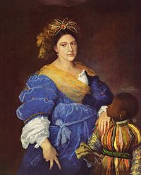 Titian: Portrait of Laura Dianti