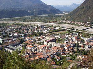 Tolmezzo - Image: Tolmezzo Panorama Con Caneva
