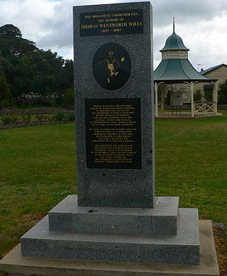 Marn Grook - Tom Wills monument in Moyston makes a claim to the Marn Grook connection.