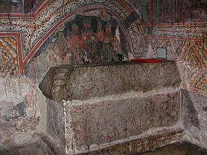 Joanikije II - Tomb of Joanikije II in the Patriarchal Monastery of Peć.