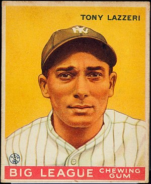 Tony Lazzeri - 1933 baseball card