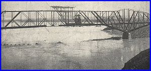 Red Rock Bridge - Bridge nearly complete in 1890