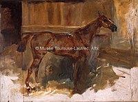 Toulouse-Lautrec - CHEVAL DANS SA STALLE, 1882, MTL.68.jpg