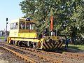 Track maintenance vehicle UDJ (9482 102), at work, Szekszard railway station, 2016 Szekszard.jpg