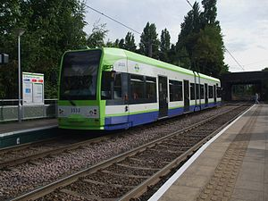 Tramlink route 1 - Image: Tram 2532 at Blackhorse Lane