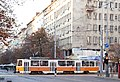 Tram in Sofia near Palace of Justice 2012 PD 059.jpg