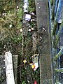 Trash behind London-bound platform, Newport station Essex.jpg