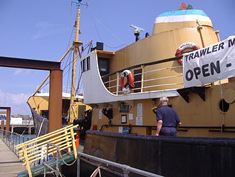 Lowestoft - Traditional trawler, the Mincarlo, now a museum ship
