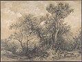 Trees (recto); Soldiers in a Wood (verso) MET DP803720.jpg