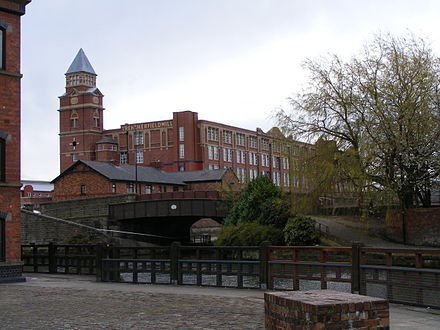 Trencherfield Mill is an example of one of Wigan's mills being converted for modern use. Trencherfield Mill 2008.jpg