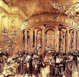 Lorenzo Ghiberti - The story of Joseph, a panel from the second set of doors to the Baptistery