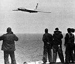 Tu-16 flying past USS Ticonderoge (CVS-14) in 1971.jpg