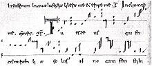 """Tu es deus"" in beneventan notation"