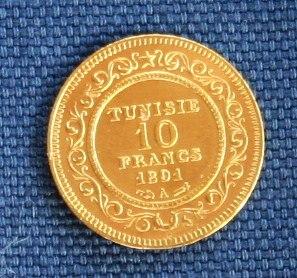 Tunesien 1891 Revers