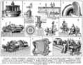 Turbines. Historical rotary mechanical devices, etc. Book illustration (encyclopedia plate line art) Larousse du XXème siècle 1932.png