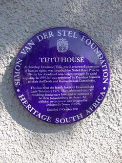 Tutu house plaque