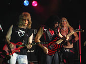 Twisted Sister wore long, hairspray-teased hair, metal studded leather outfits, and makeup.