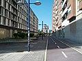 Two-way bikeway through empty plaza (18622435938).jpg