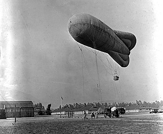"2d Special Operations Squadron - Type ""R"" observation balloon at Arcadia Balloon School, Arcadia, Calif. 1921"