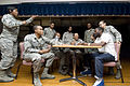 U.S. Airmen with the Andrews Players hold a meeting at Joint Base Andrews, Md., March 1, 2011 110301-F-MX661-8776.jpg