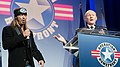 U.S. Army Gen. Martin E. Dempsey, right, the chairman of the Joint Chiefs of Staff, and Bret Michaels sing during the Operation Homefront sixth annual Military Child of the Year Award event in Arlington, Va 140410-D-KC128-198.jpg