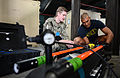 U.S. Navy Explosive Ordnance Disposal (EOD) Technician 2nd Class Michael Ganousis, left, and EOD Technician 3rd Class Troy Padmore, both assigned to a mine countermeasures team with Commander, Task Group (CTG) 140209-N-OU681-141.jpg