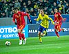 UEFA EURO qualifiers Sweden vs Romaina 20190323 Claudiu Keșerü vs Kristoffer Olsson 3.jpg