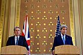 UK Secretary Hammond Listens to Secretary Kerry Address Reporters in London (27908358646).jpg